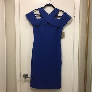 Royal blue off the shoulder dress